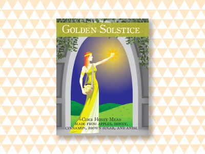 golden solstice label design personal work vector art graphic design vector illustration illustrator