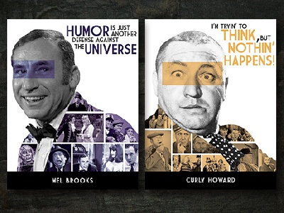 Quotes of Comedy comedians photomanipulation poster design photoshop