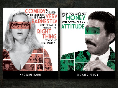 Wibquotesofcomedy2dribbble comedians photomanipulation poster design photoshop