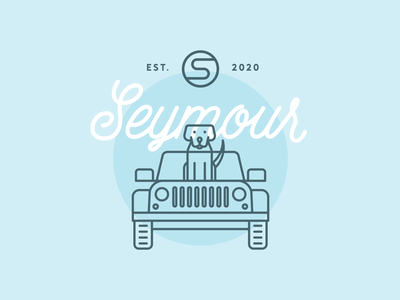 Seymour Wedding Branding logo event illustration design