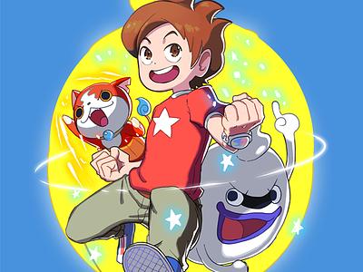 Yo-Kai Watch whisper jibanyan fanart yokai watch