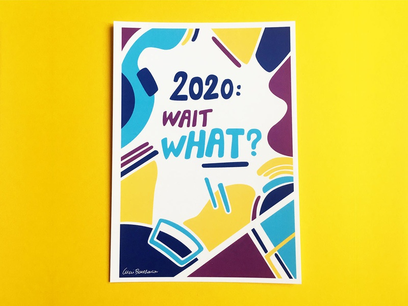 2020: Wait what? vector art abstract design abstract art geometric art colour posca illustration design color