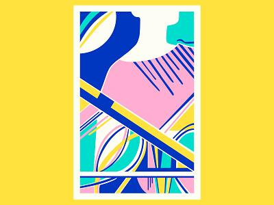 The Magician geometric art posca illustration design color