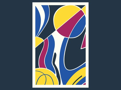 Shapes geometric art colour posca illustration design color