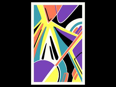 Ambition geometric art colour posca illustration design color