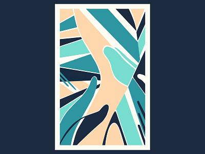 Skin Waves colour posca illustration design color