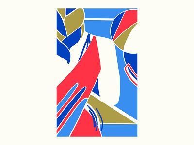 NJ art abstract design abstract art geometric art colour posca illustration design color