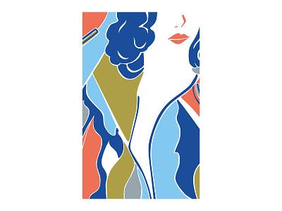 J.K. vector art abstract design abstract art geometric art colour posca illustration design color