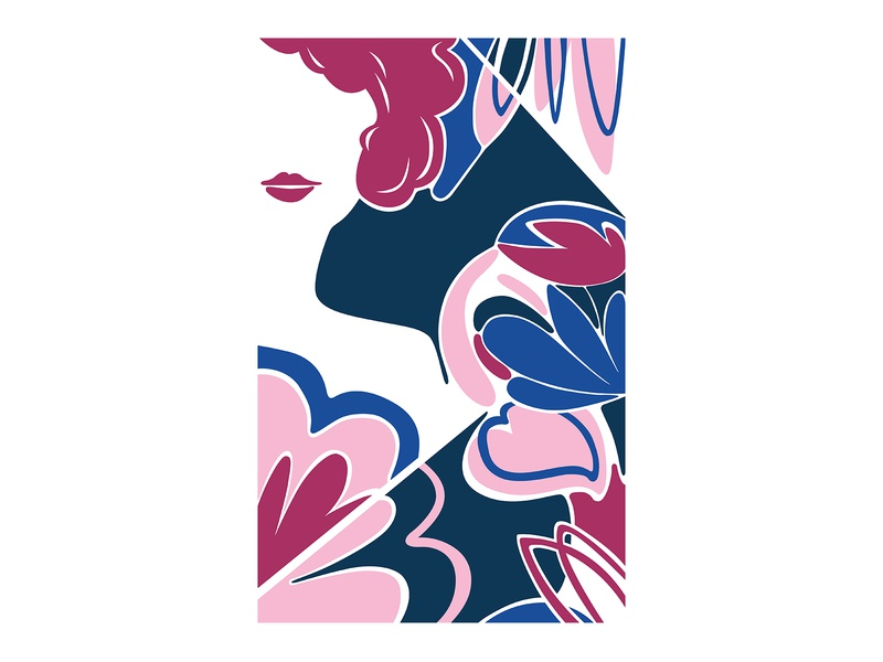 Flower Shower vector art abstract design abstract art geometric art colour posca illustration design color