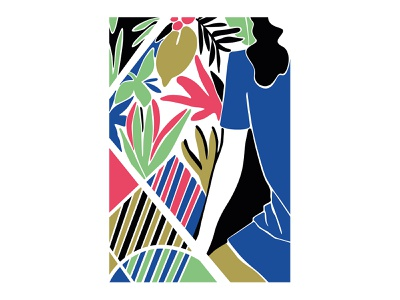 Red Lips flower illustration flower vector art abstract design abstract art geometric art colour posca illustration design color