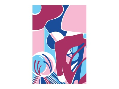 The Magician vector art abstract design abstract art geometric art colour posca illustration design color