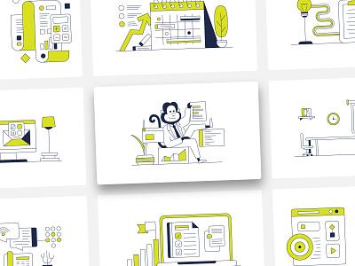 Core Group / Illustration core group illustrations simple design character design illustration art illustration loans smallbusiness linework illustrations/ui finance illustrator