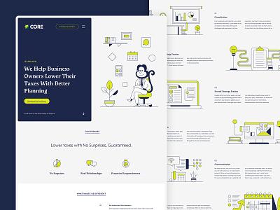 Core Group / Desktop Design illustration ux ui website ux ui webdesign illustration website design taxes small business sketchapp finance design core group
