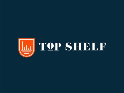 Top Shelf / Logo Design oklahoma city oklahoma simple logo mark logo logodesigner emblem badge brand design branding small business logodesign logo design