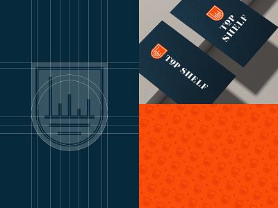 Top Shelf / Branding brand design branding and identity lvector logo grid logodesign shield badge mark limousine okc oklahoma city branding logo top shelf
