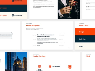 Top Shelf / Brand Guidelines brand agency logodesign brand guidelines brand and identity design limousine oklahoma city uiux ui top shelf