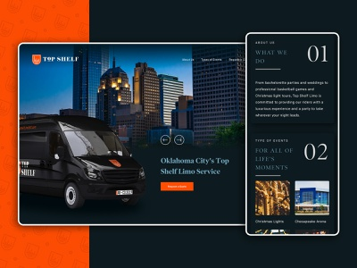 Top Shelf / Web Design mobile design website small business limousine oklahoma oklahoma city van wrap responsive website ui  ux webdesign web design top shelf