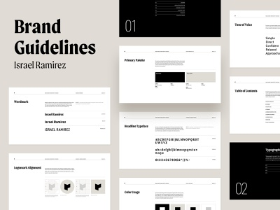 Israel / Brand Guidelines brand identity indesign personal logo branding grid layout personal branding brand book brand guideline branding design