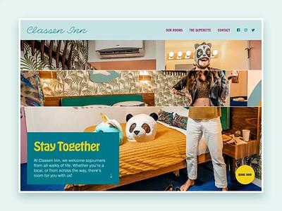 Classen Inn / Homepage Slider uiuxdesign landing homepage web animation ux ui webdesign small business oklahoma city design