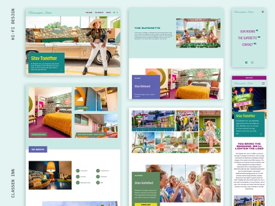 Classen Inn / Web Design web layout uiux uidesign uxdesign hotel oklahoma hospitality logo ui webdesign small business oklahoma city design