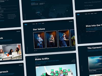 liquidfish / Website Screens website web design portfolio website design agency oklahoma city ux branding ui