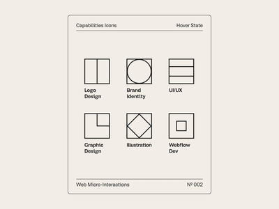 Micro-Interactions 02 capabilities minimal icons micro interactions animation personal portfolio web design ux ui web motion