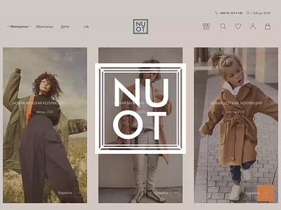 NUOT, online store style ux webdesign e-commerce ui brands