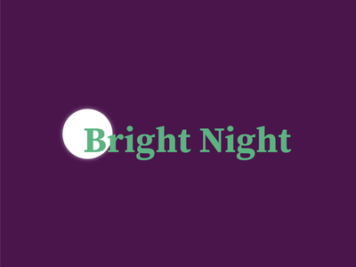 Concept logo for Bright Night