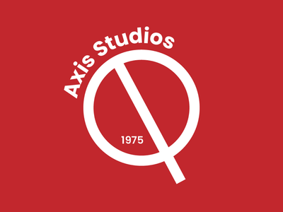 Concept logo for'Axis Studios'.