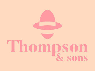 Concept logo for Thompson & Sons.