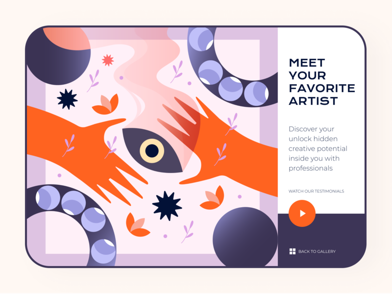 Artist Illustration UI Design