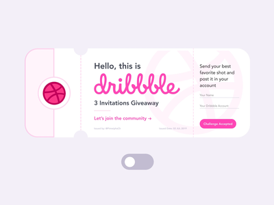 Dribbble Invitation Tickets