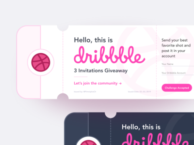 Dribbble Invitations Shot