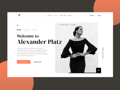 Fashion Blog Landing Page
