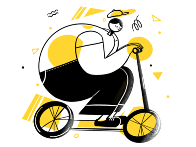 Scooter Riding Boy