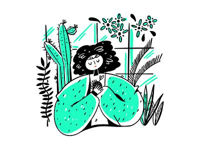 Mother of Nature Illustration Design design webdesign designinspiration uidesigner procreate graphicdesign uxdesign brand uiinspiration uidesign illustration landingpage ecofriendly green planet earth gardening tropical nature plant