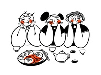 Chinese Food Party Illustration Design