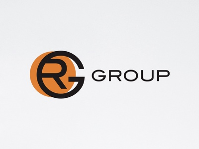 RG Group brand graphic design logotype