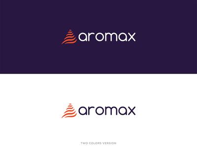 Aromax - Two Colors Version cafe coffee brand venezuela logotipo logo branding typography illustration graphic graphicleo design