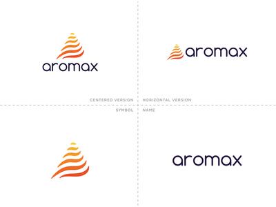 Aromax - Logo Versions cafe coffee venezuela brand logotipo logo branding typography illustration graphic graphicleo design