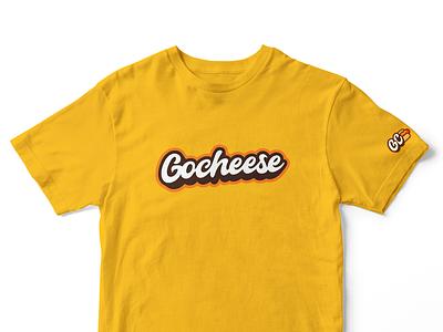 Gocheese T Shirt Design fast food logo fast food hot dog logo hotdog hot dog branding logotipo logo typography illustration graphic graphicleo design