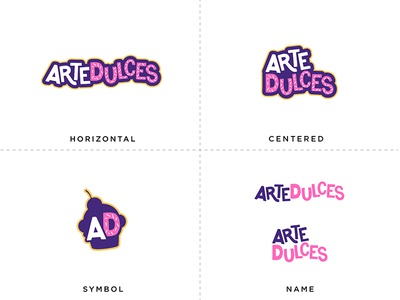 ArteDulces Logo variations