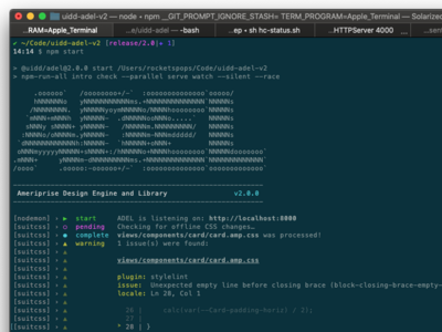 ADEL Command Line Interface ascii terminal cli