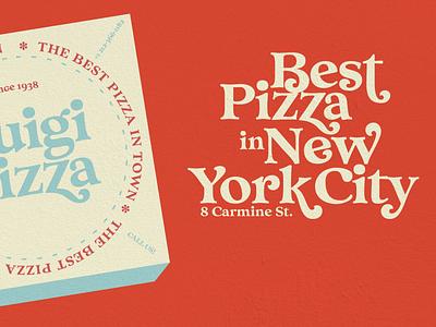 Pizza pizza box pizza design illustration font type