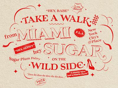 Take a Walk on the Wild Side  Lou Reed Homage illustration design font nostalgia typography thevelvetunderground loureed type