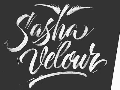 Sasha Velour rupaul dragrace dragqueen brush calligraphy script