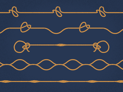 Nautical Knots  typography font icons strings knots nautica