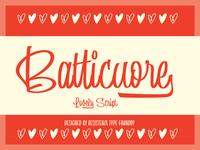 Batticuore - New Font Release