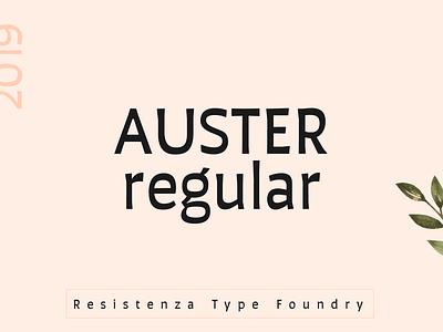 Auster Regular design typography font type