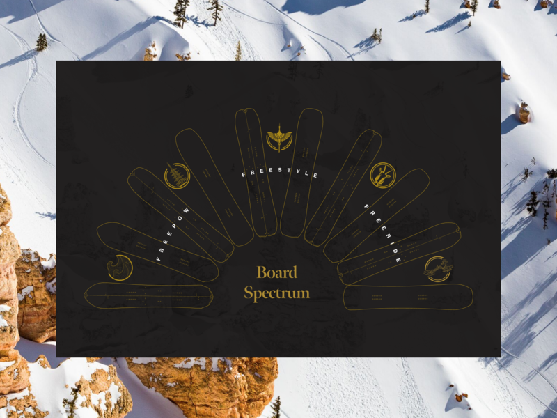 Cardiff Board Spectrum ecommerce graphic snowboards layout ui ux website